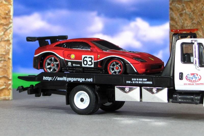 2004 Ferrari 575 Gtc Matte Red Za Hot Wheels By