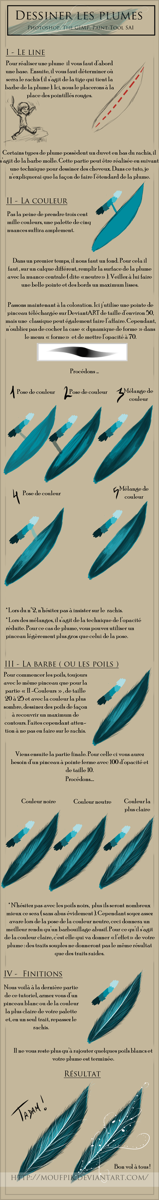 Feather tutorial - FRENCH by Moufpik