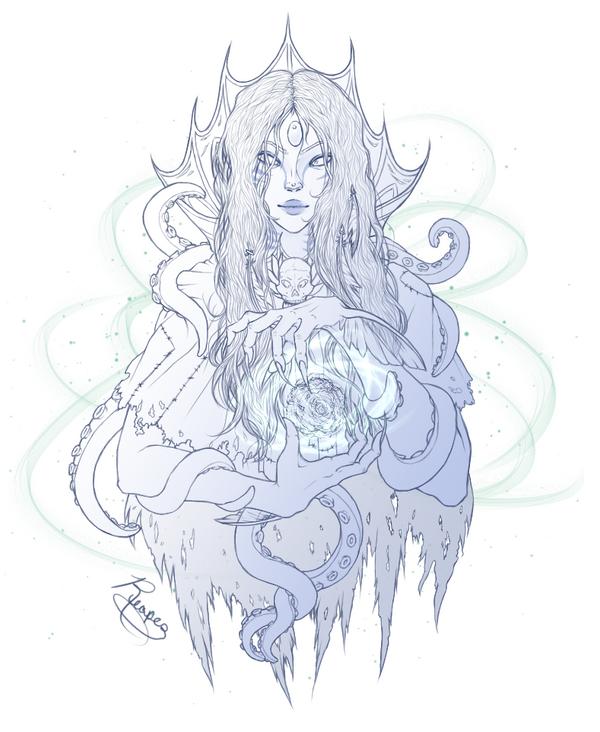 FR Gijinka: Sea Witch Stheno by Reaper-cussion