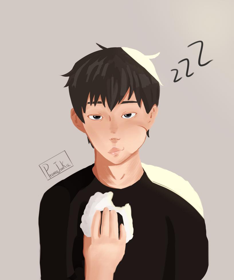 Sleepy kageyama by princejinkis