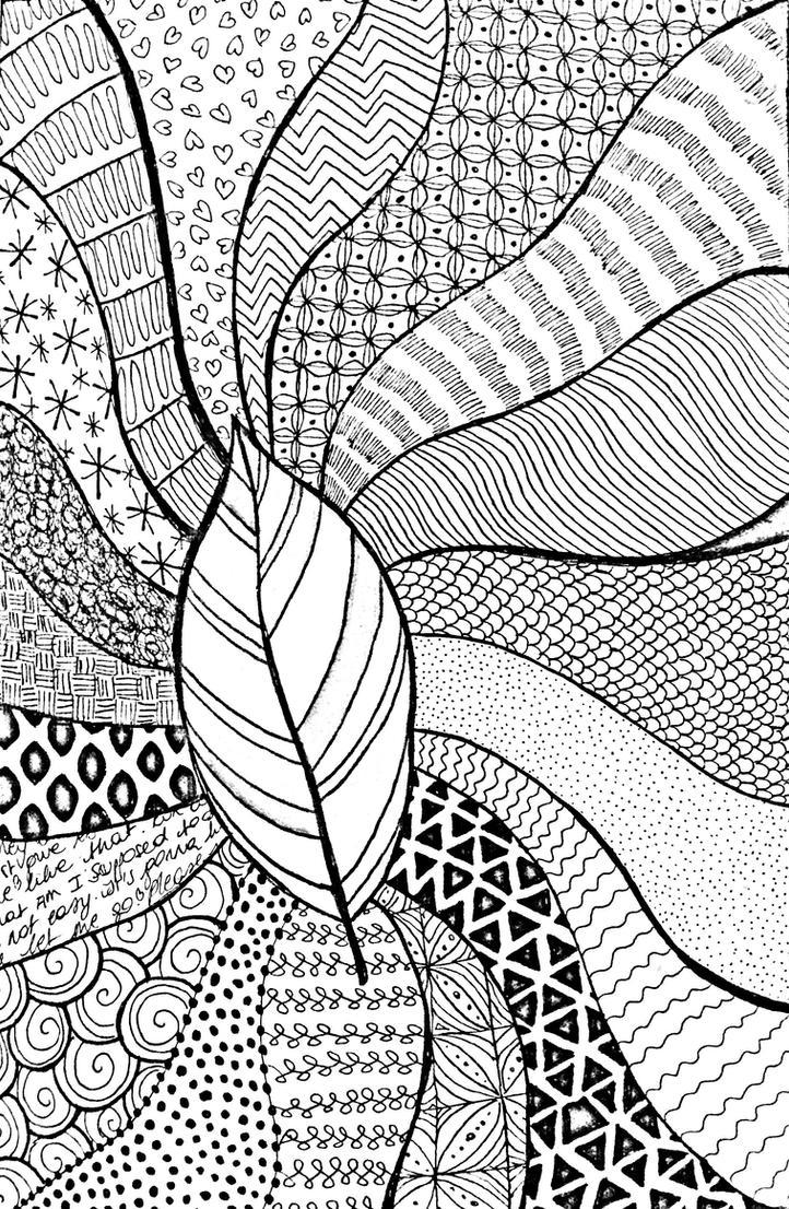 Leaf doodle by Mooniilla