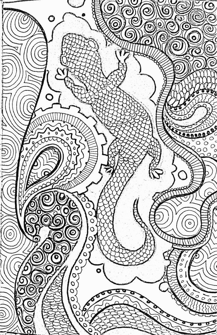 Salamander doodle by Mooniilla