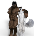 Donna and Brian wolves nude by Hulksmash31