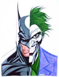 Batman Joker Portrait