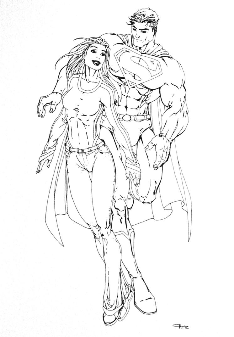 Superman coloring pages online - Superman Coloring Pages Supergirl_superman_turner_by_eso2001 D2xxl5q