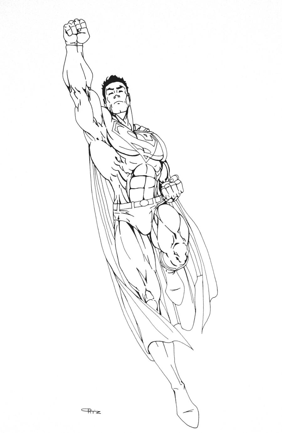cute superman flying drawing - photo #11