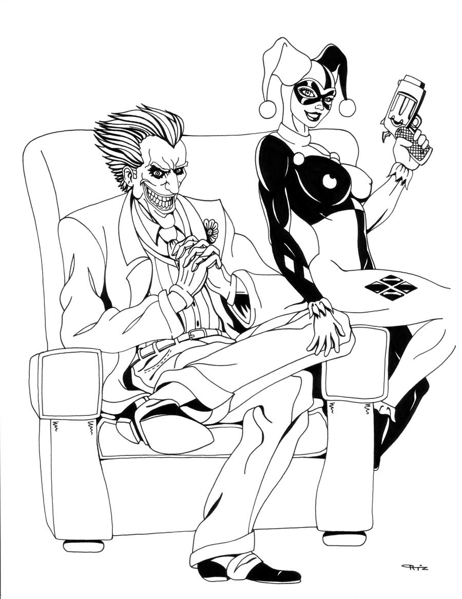 Joker and Harley Quinn by ESO2001