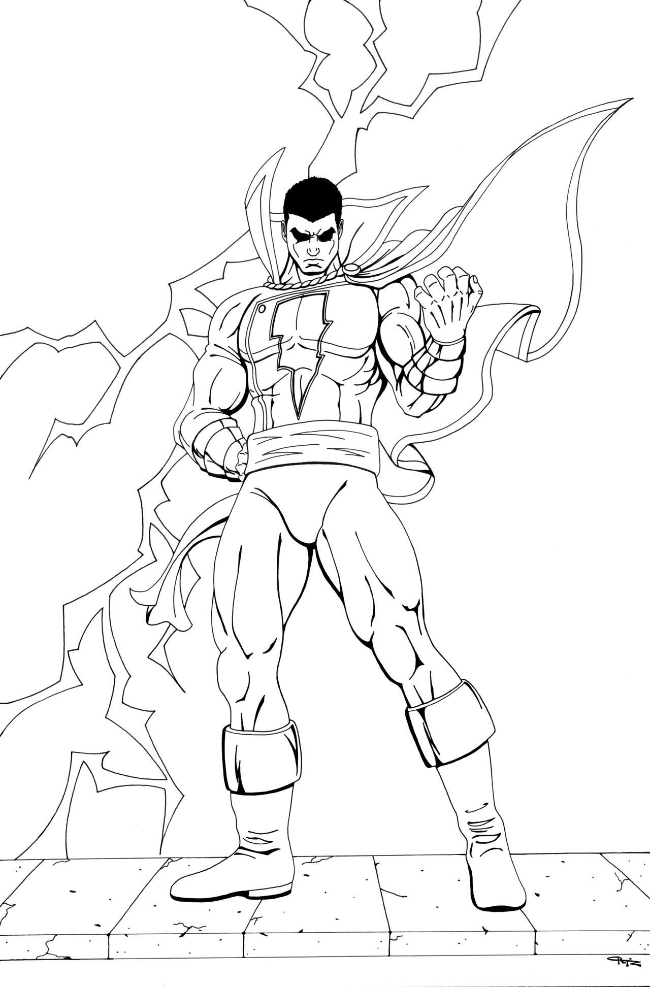 Captain Marvel SHAZAM Commish by ESO2001 on DeviantArt