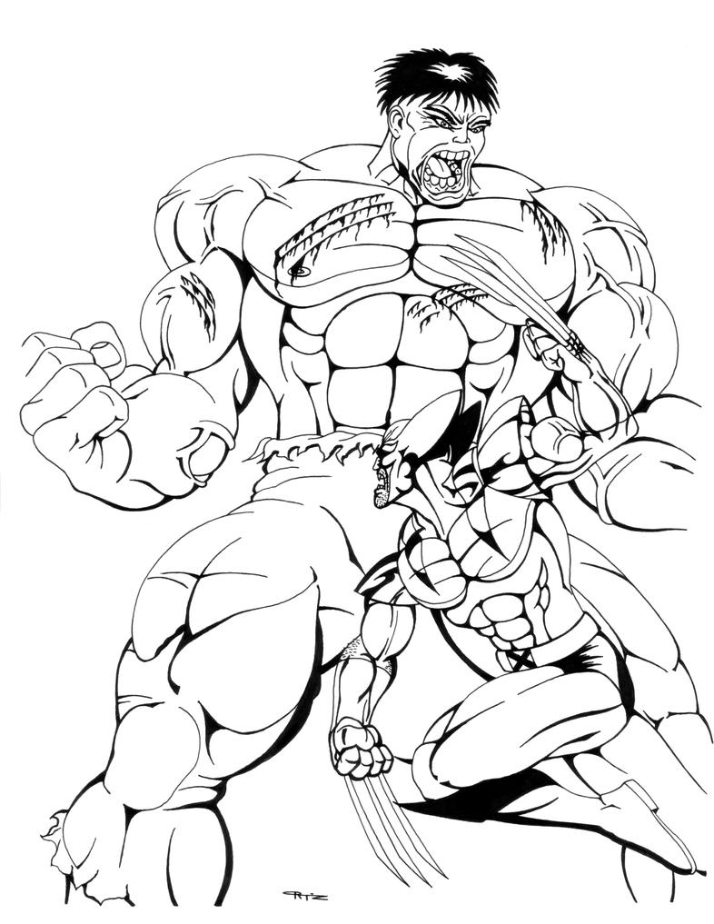 Hulk Vs Wolverine Coloring Pages Coloring Pages