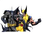 Batman VS Wolverine Colors