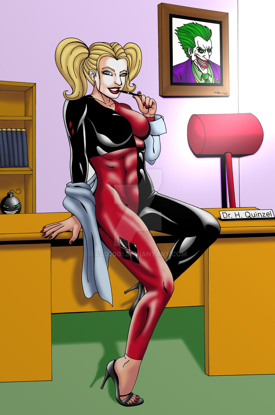 Harley at work commission Color by ESO2001