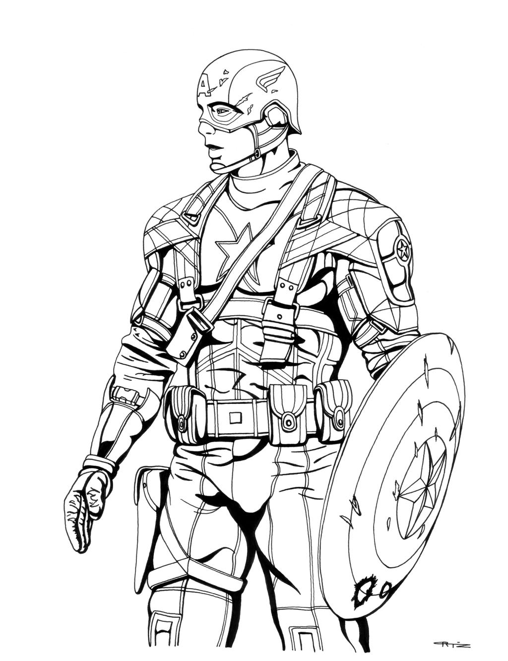 avengers coloring pages captain america - photo#9