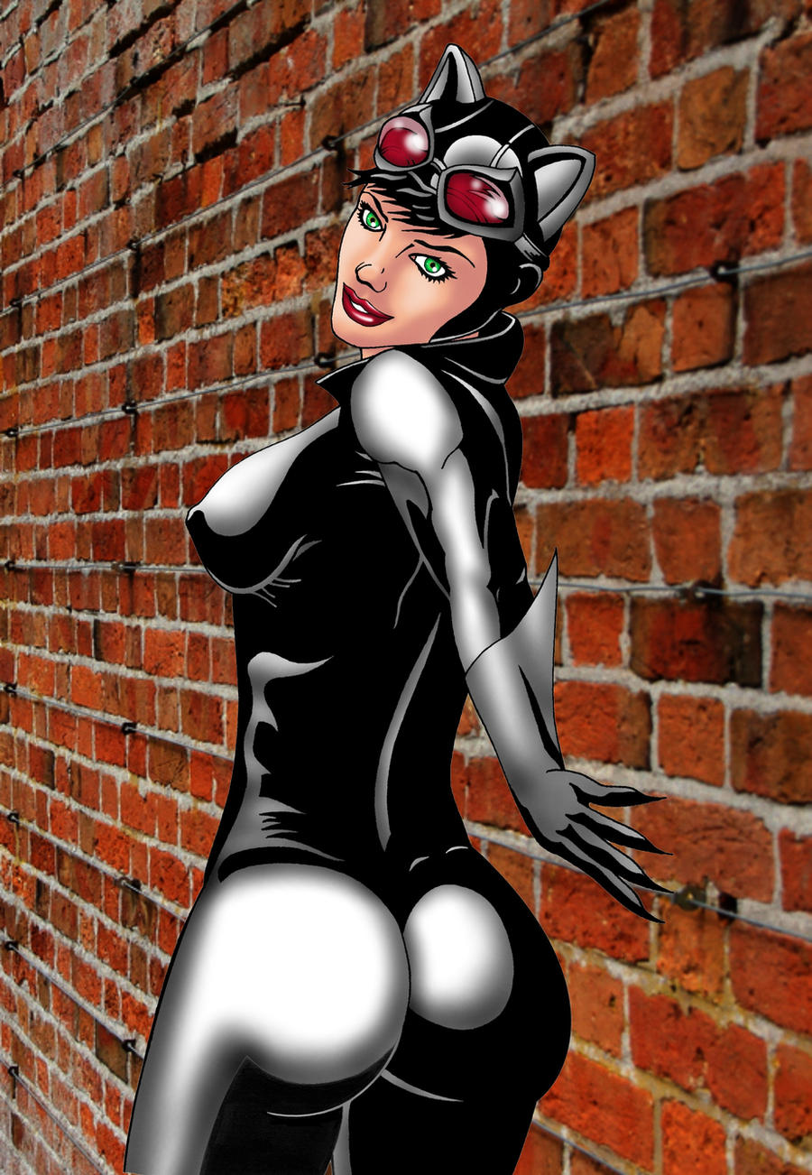 Catwoman Back Turn Color 2 by ESO2001