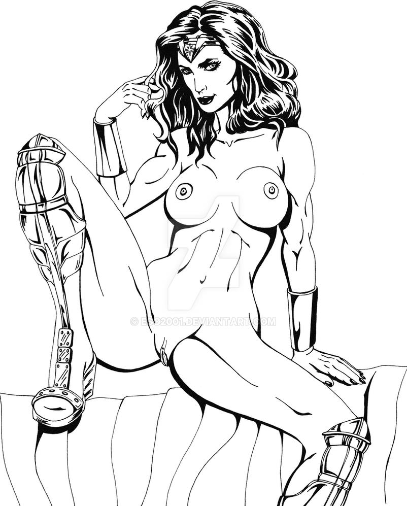 Wonder Woman Nude by ESO2001