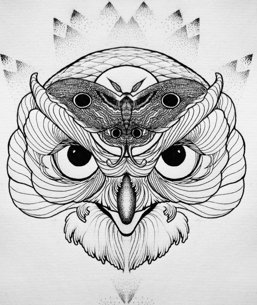 Owl tattoo sketch by lookawake on deviantart for Cool tattoo drawings