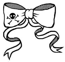 Pirate bow tattoo by blackbirdrose