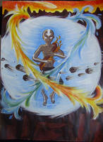 Avatar Aang by blackbirdrose