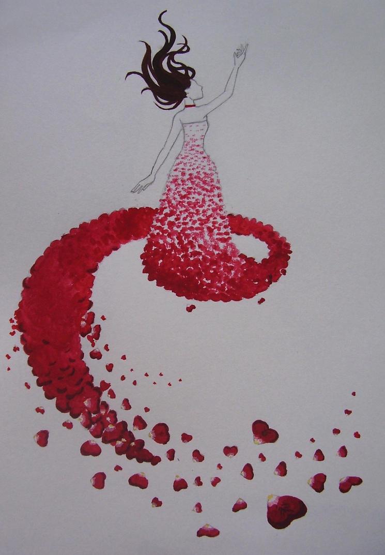 Rose petal gown by blackbirdrose ...