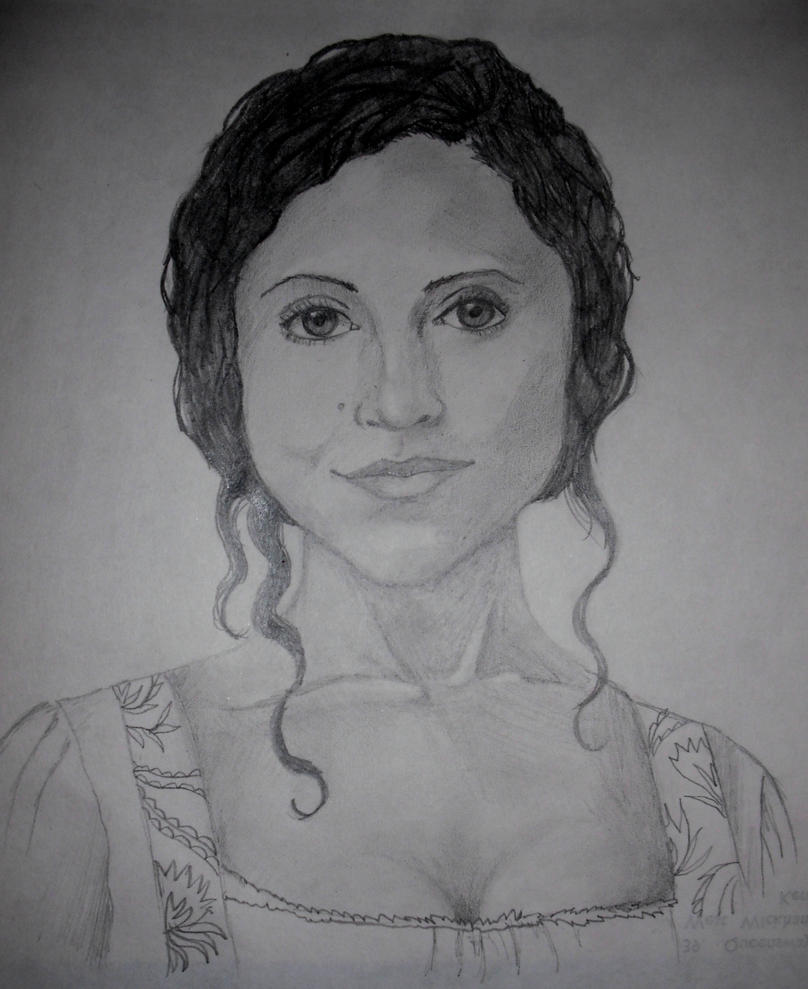 Gwen - Angel Coulby by blackbirdrose