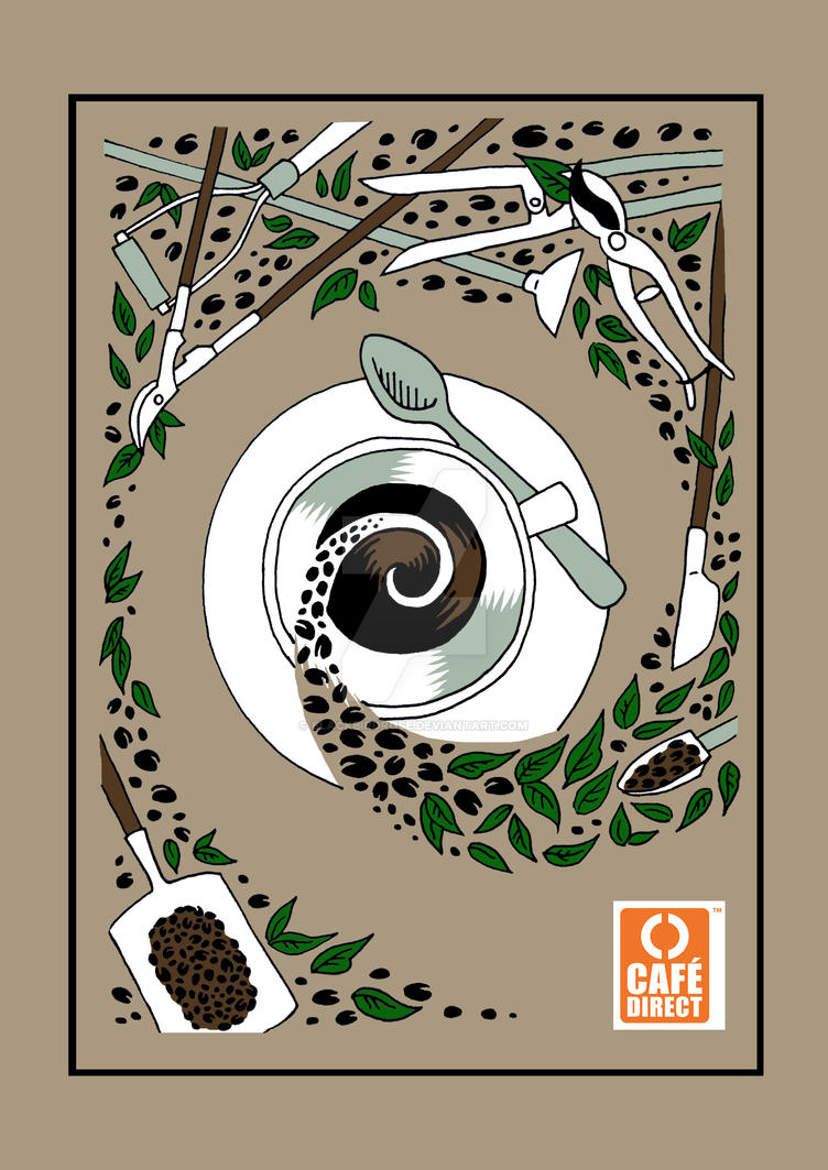 Cafe Direct Tea Towel Design by blackbirdrose
