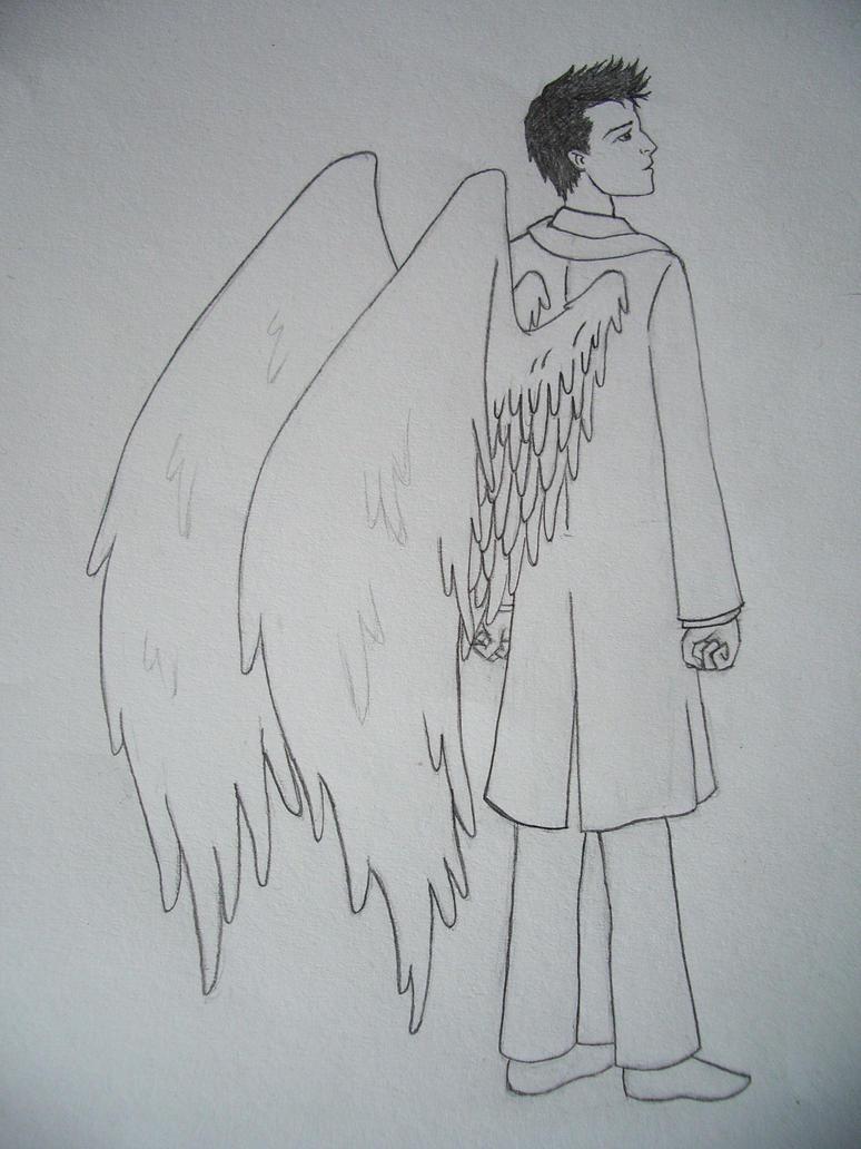 Castiel sketch by blackbirdrose