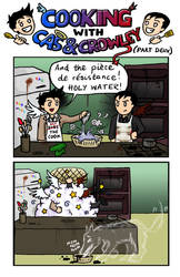 Cooking With Cas+Crowley Pt.II by blackbirdrose
