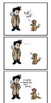 Cas vs Puppy Power by blackbirdrose