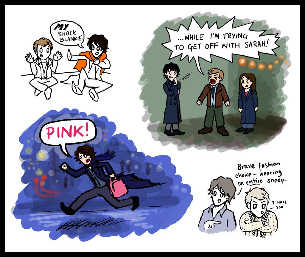 Sherlock doodles by blackbirdrose