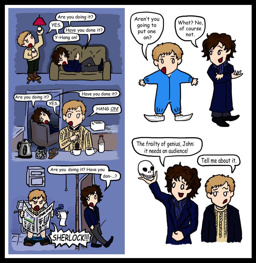 Sherlock Doodles Funny Pair Blackbirdrose