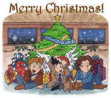 Christmas for Team Free Will by blackbirdrose