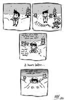 Cas vs Snow by blackbirdrose