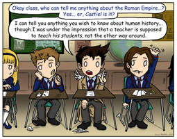 SPN: Too School for Cool by blackbirdrose