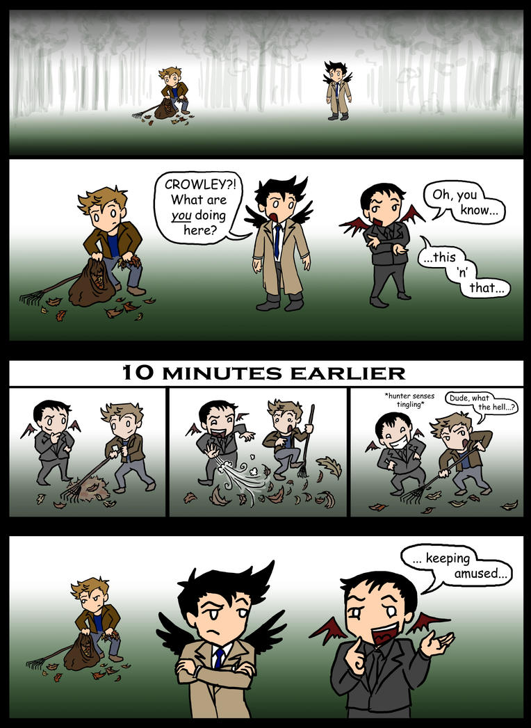 SPN: Leaf it out, Crowley... by blackbirdrose