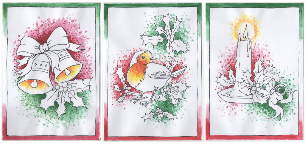 Christmas Cards 2011 by blackbirdrose