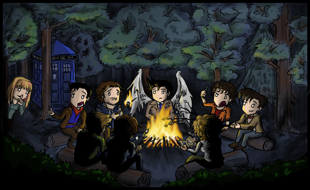 Multifandom: Campfires and Marshmallows by blackbirdrose