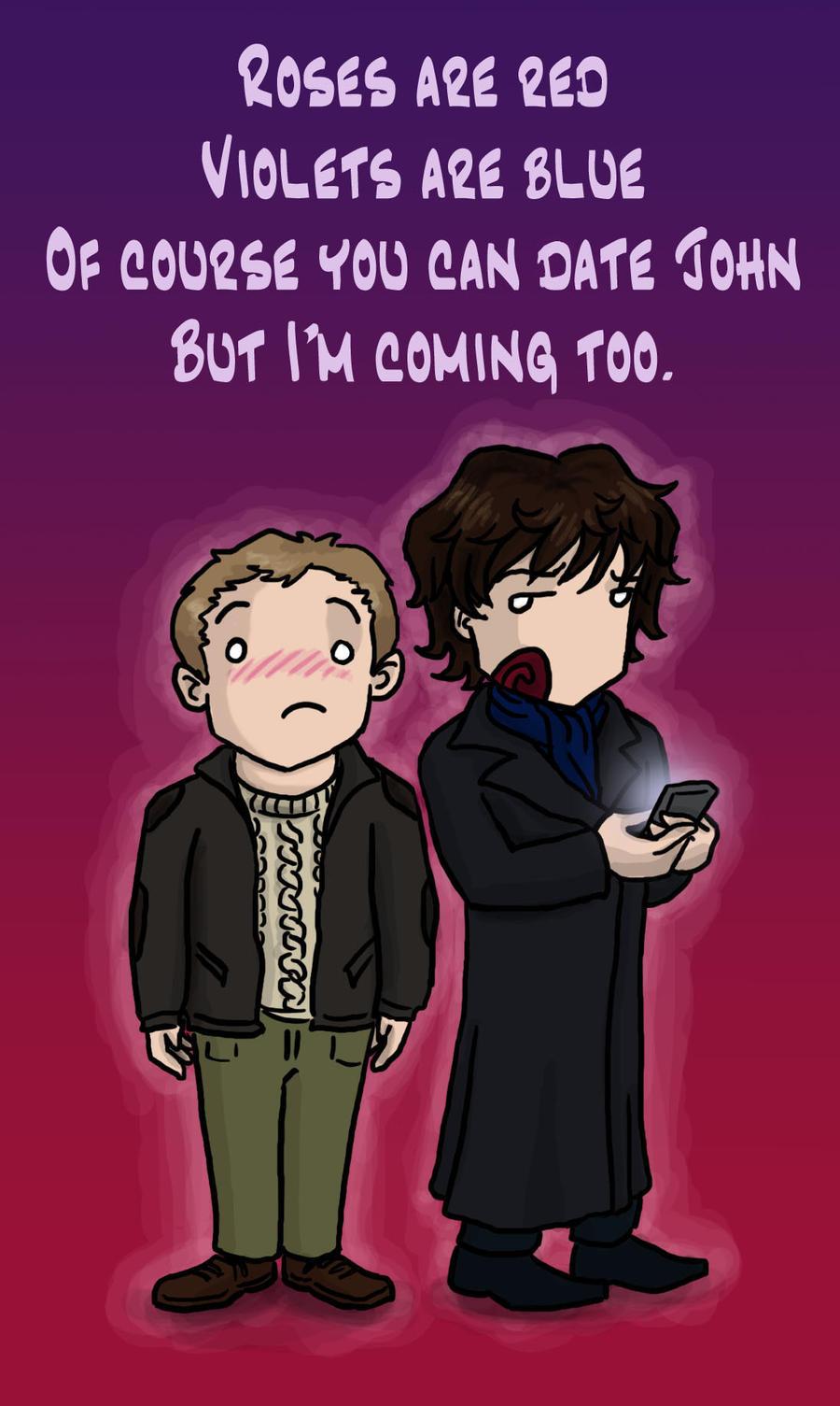Sherlock: Valentine Rhyme by blackbirdrose