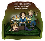 SPN SPOILERS: Set Fire to the Bed