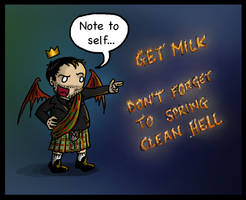 Crowley: Note To Self... by blackbirdrose