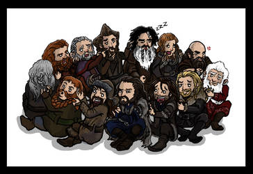 The Hobbit: Dwarf Circle Time by blackbirdrose