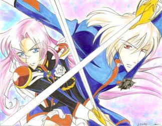 Utena and Mikage by DemonWolfSasha