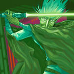 ::: green lightsaber :::