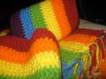 Rainbow Scarf by insilverscript