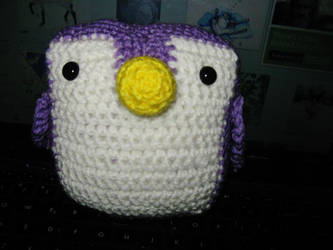 Purple Penguin by insilverscript