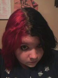Split-dyed Hair by insilverscript