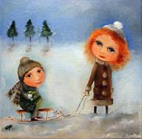 Winter Walk by Monica-Blatton