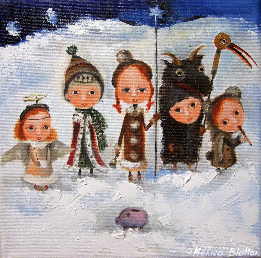 Carollers by Monica-Blatton