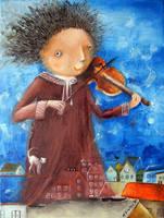 Fiddler by Monica-Blatton
