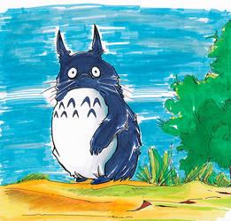 Run Along Home Young Totoro