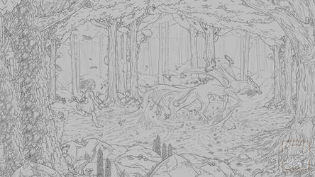 Personal Project - Spring Dream Linework