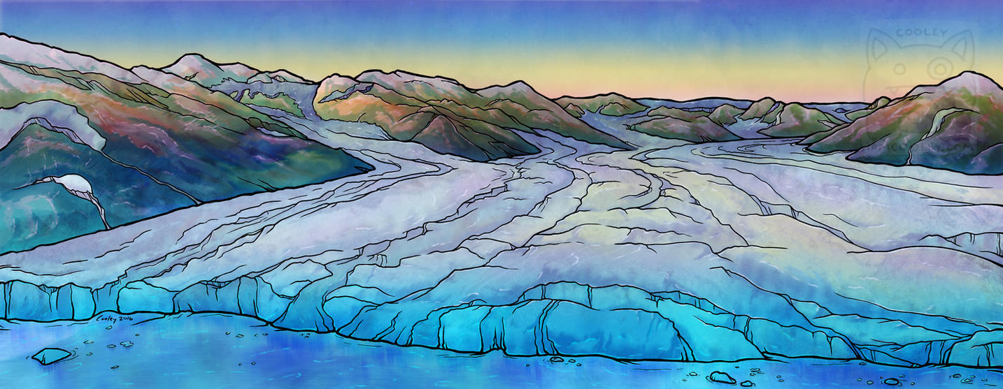NPS Commission - Harvard Glacier by cooley